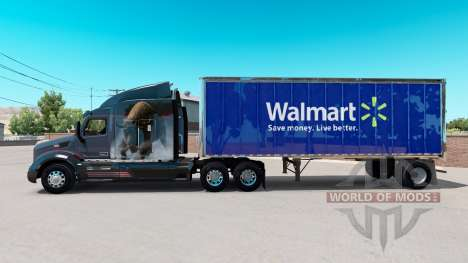 Skin Walmart on small trailer for American Truck Simulator