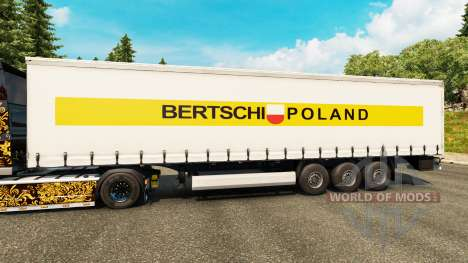 Skin Bertschi Poland in the semi for Euro Truck Simulator 2