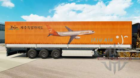 Skin Jeju Air to trailers for Euro Truck Simulator 2