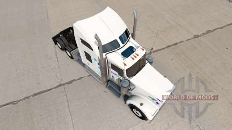 Скин FedEx Custom Critical на Kenworth W900 for American Truck Simulator