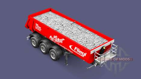 Semi-trailer tipper Fliegl Schmitz Red Power for Euro Truck Simulator 2