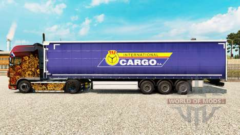 Skin PKS International Cargo S. A. on the traile for Euro Truck Simulator 2
