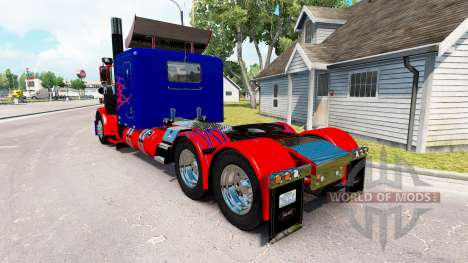 Optimus Prime skin for the truck Peterbilt 389 for American Truck Simulator
