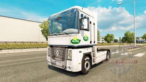 Skin Arla v2.0 tractor Renault for Euro Truck Simulator 2