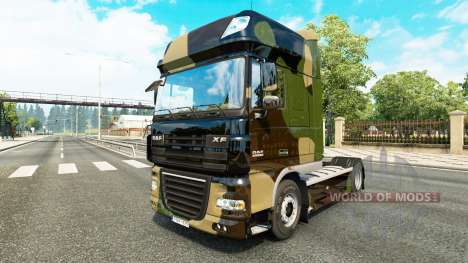 Camo skin for DAF truck for Euro Truck Simulator 2