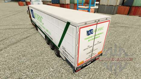 Skin Armoric Freight International on the traile for Euro Truck Simulator 2