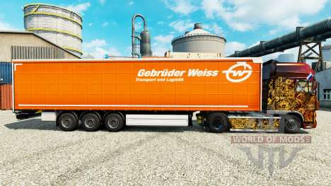 Skin Gebruder Weiss on semi for Euro Truck Simulator 2