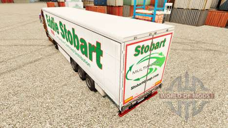 Eddie Stobart skin for trailers for Euro Truck Simulator 2