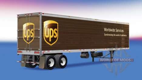 Skin UPS on the trailer for American Truck Simulator