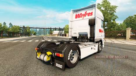 Weyres skin for DAF truck for Euro Truck Simulator 2