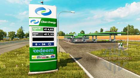 New colors for the gas station v0.4 for Euro Truck Simulator 2