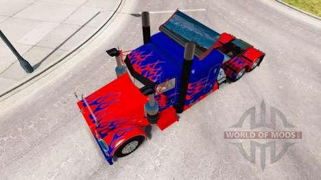 Optimus Prime skin for the truck Peterbilt 389 for American Truck Simulator