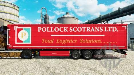 Skin Pollock Scotrans Ltd. on semi for Euro Truck Simulator 2