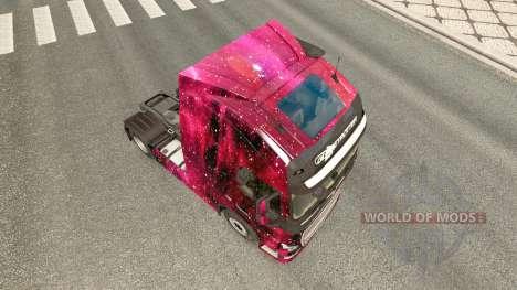 Weltall skin for Volvo truck for Euro Truck Simulator 2