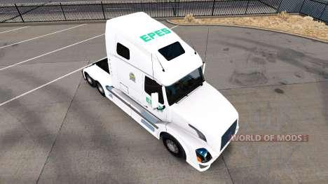 Epes Transport skin for Volvo truck VNL 670 for American Truck Simulator