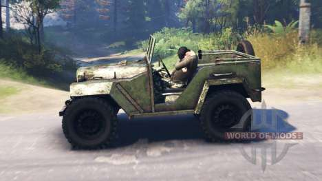 The GAZ-67 1943 for Spin Tires