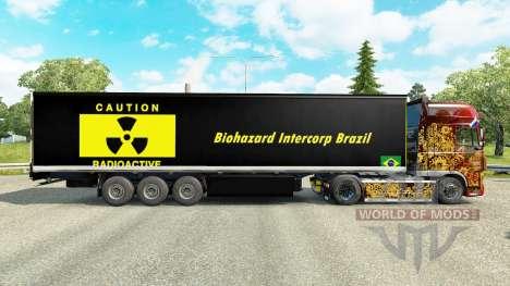 Skin Biohazard Intercorp Brazil in semi for Euro Truck Simulator 2
