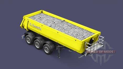 Semi-trailer tipper Schmitz Rosafio Transports for Euro Truck Simulator 2