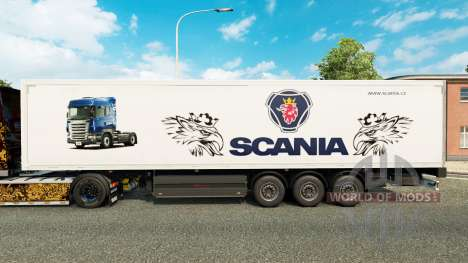 Skin Scania for trailers for Euro Truck Simulator 2