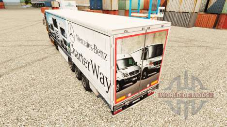 Skin Mercedes-Benz Charter Way on the trailers for Euro Truck Simulator 2