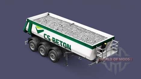 Semi-trailer tipper Schmitz Cargobull CS-BETON for Euro Truck Simulator 2