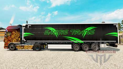 Skin Sachs Trans on a curtain semi-trailer for Euro Truck Simulator 2