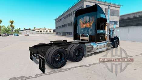 Skin Black Ops v2 on the truck Kenworth W900 for American Truck Simulator