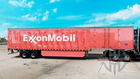 Skin ExxonMobil on a curtain semi-trailer for American Truck Simulator