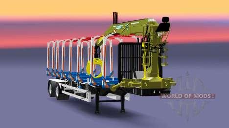 A semi-trailer truck Huttner for Euro Truck Simulator 2