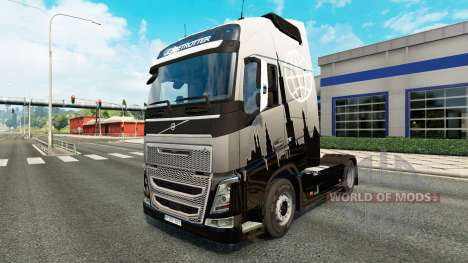 Euro Express skin for Volvo truck for Euro Truck Simulator 2