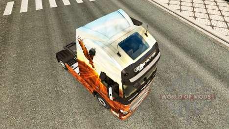 Free spirit skin for Volvo truck for Euro Truck Simulator 2
