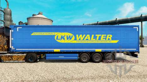 LKW WALTER skin for trailers for Euro Truck Simulator 2