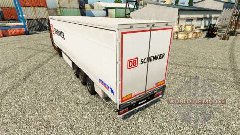 Schenker skin for trailers for Euro Truck Simulator 2
