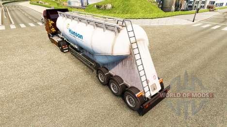 Skin Hanson cement semi-trailer for Euro Truck Simulator 2