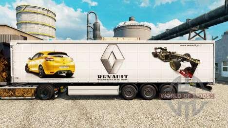 Skin Renault F1 Team v2 on semi for Euro Truck Simulator 2
