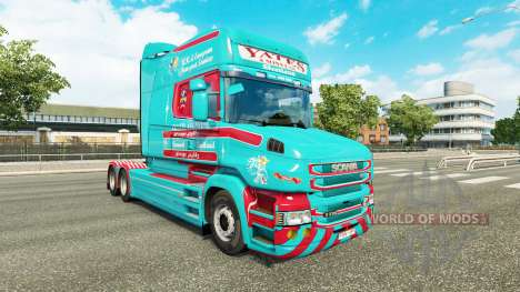 Skin Yates & Sons for truck Scania T for Euro Truck Simulator 2
