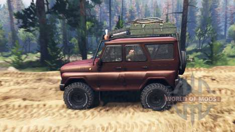 UAZ-315195 v2 turbo diesel.0 for Spin Tires