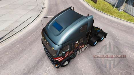 Skin Uncle Sam on the truck Freightliner Argosy for American Truck Simulator