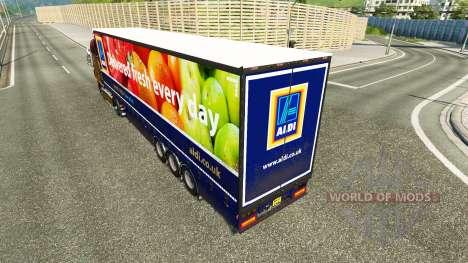 Curtain semi-trailer Aldi v2.0 for Euro Truck Simulator 2
