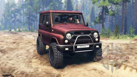 UAZ-315195 turbo diesel for Spin Tires