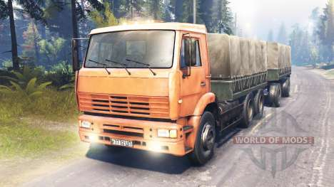 KamAZ-6522 trunk for Spin Tires
