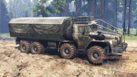 Ural-4320-10 8x8 for Spin Tires