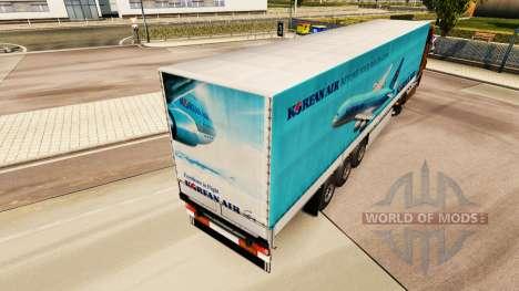 Skin Korean Air to trailers for Euro Truck Simulator 2