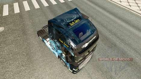 Skin is Sub-Zero on the Volvo trucks for Euro Truck Simulator 2