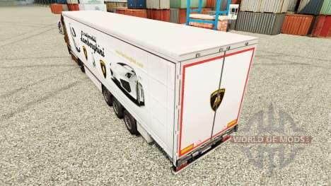 Skin Lamborghini semi-trailers for Euro Truck Simulator 2