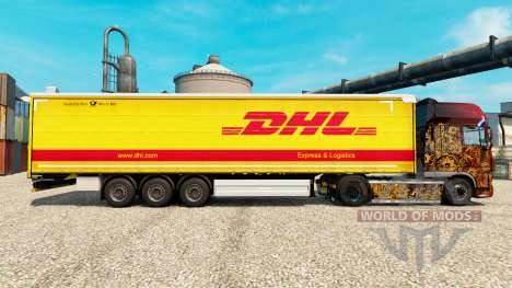 Skin DHL for v2 semi for Euro Truck Simulator 2