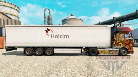 Holcim skin for trailers for Euro Truck Simulator 2
