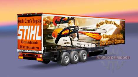 The Spike Trans Logistic skin for trailers for Euro Truck Simulator 2