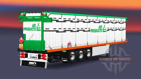 The semitrailer-platform with a load of cylinder for Euro Truck Simulator 2