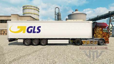 Skin GLS for trailers for Euro Truck Simulator 2